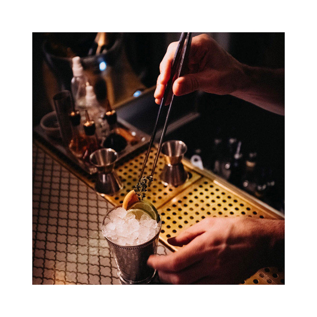 Prohibition cup by Brønnum CPH, a cocktail with Gnista Floral Wormwood