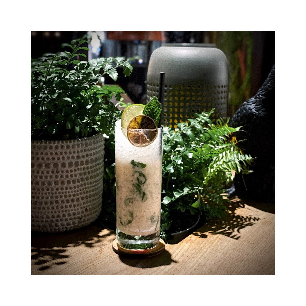 Pampas Highball by Downtown Camper, Stockholm, a cocktail with Gnista Floral Wormwood